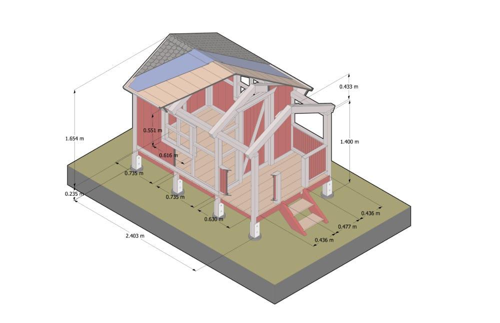 Ein Plan von einem Architekten für das Kinderspielhaus.